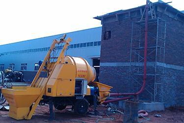 Combine concrete mixer with pump - An all new designed machine