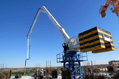 Self-climbing Hydraulic Concrete Placing Boom