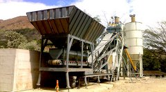 YHZS50 Mobile concrete batching plant in Papua New Guinea